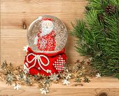 Christmas Decoration With Nature Pine Tree