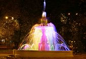 Singing Colored Fountain In The Minin Square Nizhny Novgorod