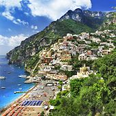 breathtaking views of Amalfi coast of Italy - Positano