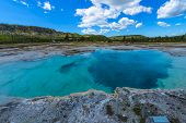 stock photo of biscuits  - Sapphire Pool Biscuit Basin Yellowstone National Park - JPG