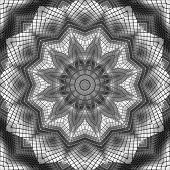 Shiny metallic, textured, detailed kaleidoscope illustration