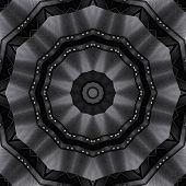 Metallic detailed kaleidoscope illustration