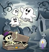 Skeleton theme image 4 - eps10 vector illustration.