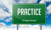 Practice on Green Highway Signpost.