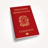 Italian passport, vector illustration