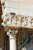 picture of masterpiece  - Detail of ancient porch of the Basilica of San Zeno  - JPG