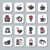 White Flat Cooking And Food Icons