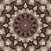 Stylish steampunk kaleidoscope with gears and other details