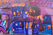 Street art Montreal naive art