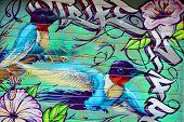 treet art Montreal hummingbird