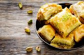 image of baklava  - baklava with pistachio - JPG
