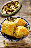 picture of baklava  - baklava with pistachio - JPG