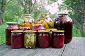 Home Canning. Pickled Vegetables And Jam