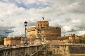 People In The Castel Sant'angelo, Rome, Italy