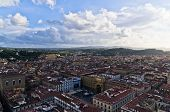 Panoramic wide bird eye view at city of Florence, Tuscany