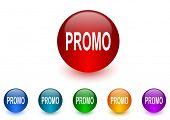 promo internet icons colorful set