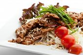 Pork with Vegetables in Ginger Sauce