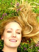 Blond Woman In Grass Headshot