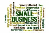 Small Business Word Cloud on white background