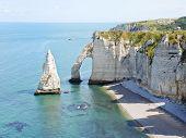 English Channel Coastline Of etretat