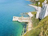 Rocky Coast Of English Channel