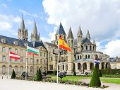 Medieval Abbey Of Saint-etienne In Caen, France