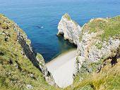 Rocky Coast Cote D'albatre Of English Channel