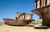 Boats In Desert - Aral Sea