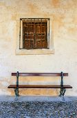 Old Bench And Window