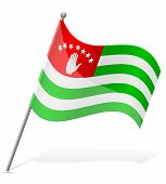 Flag Of Abkhazia Vector Illustration