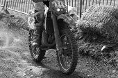 image of motocross  - Closeup of a motocross bike in a championship - JPG