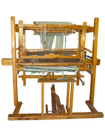 picture of handloom  - Vintage ancient wooden loom isolated over white background - JPG