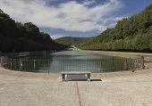 Caserta Royal Palace Garden lake