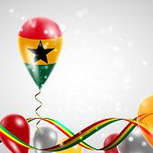 Flag of Ghana on balloon