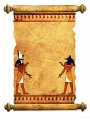 picture of anubis  - Scroll with Egyptian gods images  - JPG