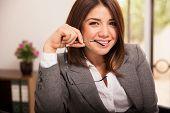 Cute Flirty Business Woman