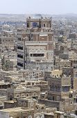 Exterior of the traditional buildings of Sanaa city, Sanaa, Yemen.