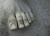 Architectural Detail Foot of Statue