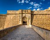 Fort Saint Angelo Gates In Citta Vittoriosa (birgu), Malta