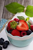 Bowl with assorted berries