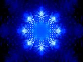 stock photo of nanotechnology  - Blue glowing nanotechnology system computer generated abstract background - JPG