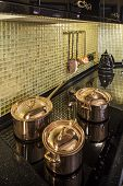 pic of copper  - the kitchen copper utensils Interior of modern - JPG