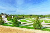 stock photo of versaille  - Beautiful garden in a Famous palace Versailles Paris France - JPG