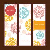 Vector abstract decorative circles stars vertical banners set pattern background