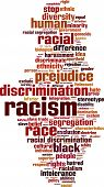 picture of racial discrimination  - Racism Word Cloud Concept - JPG