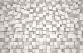 picture of cube  - Abstract 3D cube geometric background of white cubes - JPG