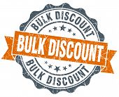 Bulk Discount Orange Vintage Seal Isolated On White
