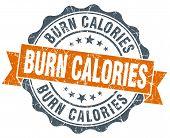 Burn Calories Orange Vintage Seal Isolated On White