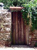 wooden garden door