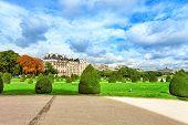 Park Near Main Entrance Les Invalides. Paris, France.